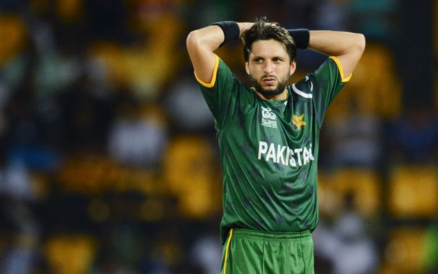 Former Pakistan captain Shahid Afridi in a file