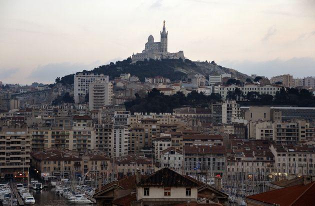 Une vue de la basilique Notre-Dame-de-la Garde à Marseille. (photo