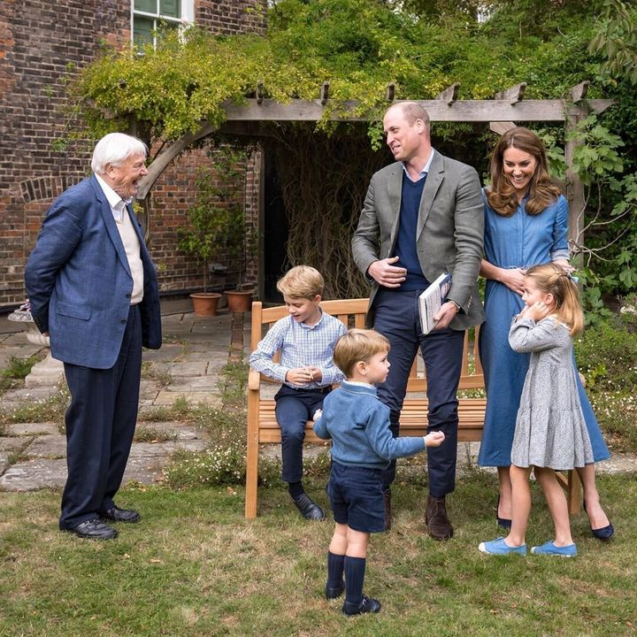 Prince WIlliam Kate Middleton kids David Attenborough