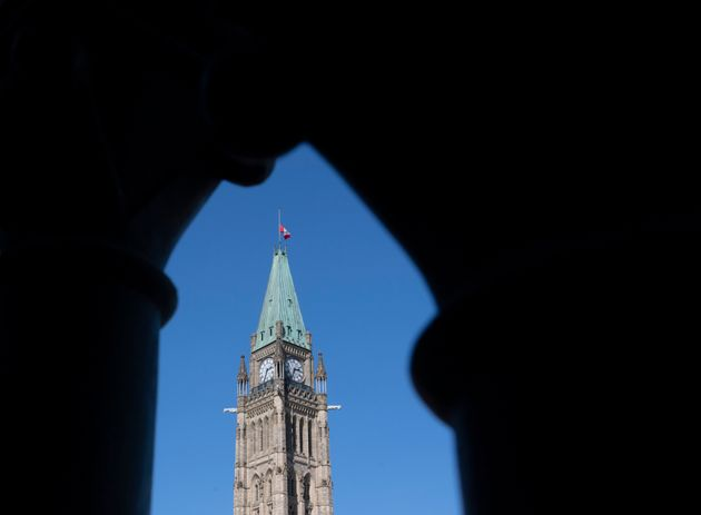 The Peace tower is seen on Parliament Hill in Ottawa on Sept. 21,