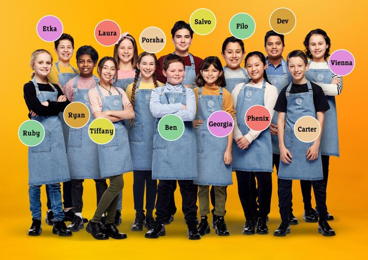 The cast of 'Junior MasterChef Australia'