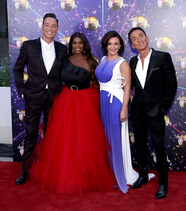 Craig with his fellow Strictly judges pictured during last year's red carpet launch