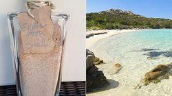 Dopo 42 anni restituisce la sabbia rosa presa a Budelli dal padre.