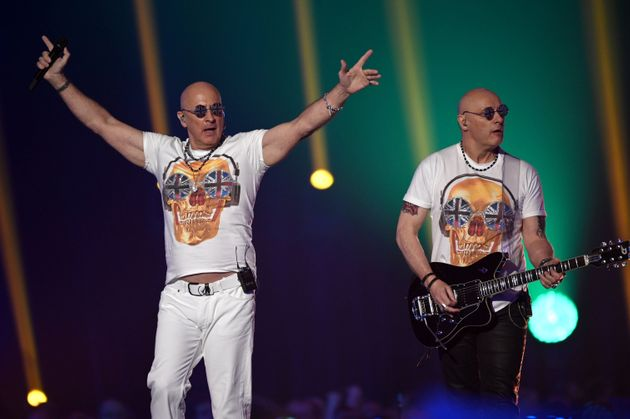 Right Said Fred performing in