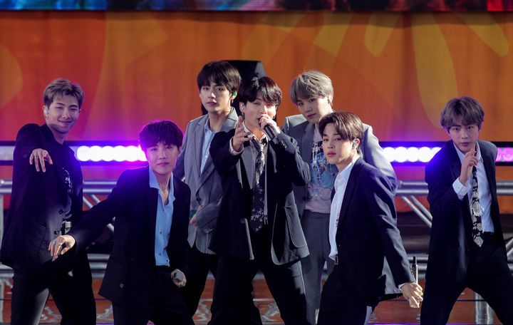 BTSs perform on ABC's 'Good Morning America' show in Central Park in New York City, U.S., May 15, 2019.