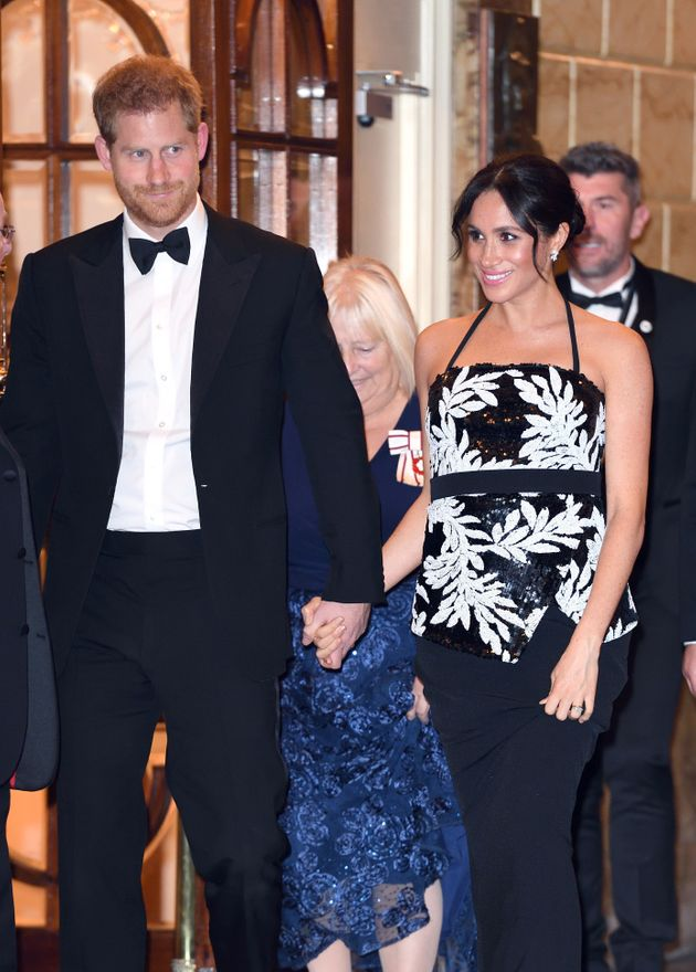 Harry and Meghan at the Royal Variety Performance in