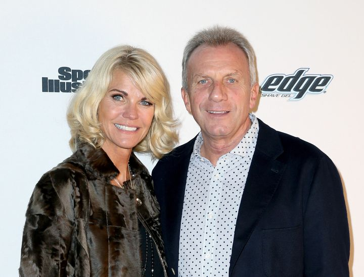 Former NFL player Joe Montana and Jennifer Montana attend the Sports Illustrated Experience Friday Night Party on Feb. 5, 201