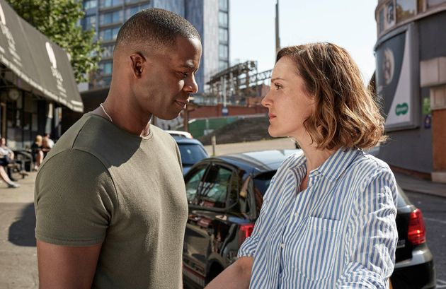 Adrian Lester and Rachael Stirling as David and Kelly