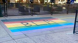 Calgary Pride To Leave BLM Graffiti On Rainbow Crosswalk In