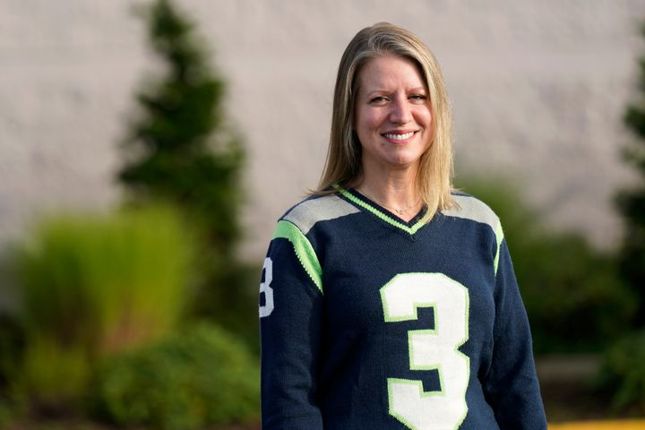 Mindi Wirth, who heads a group called Parents for Safe Schools that is seeking to overturn a sex education requirement for public schools, poses for a photo Sunday, Sept. 27, 2020, in Lynnwood, Wash.