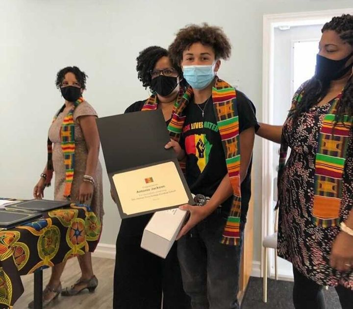The August graduation ceremony for the African Nova Scotian Freedom School, which delivered its classes online.