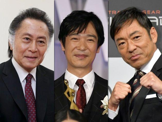 『半沢直樹』に出演した北大路欣也さん、堺雅人さん、香川照之さん(左から)