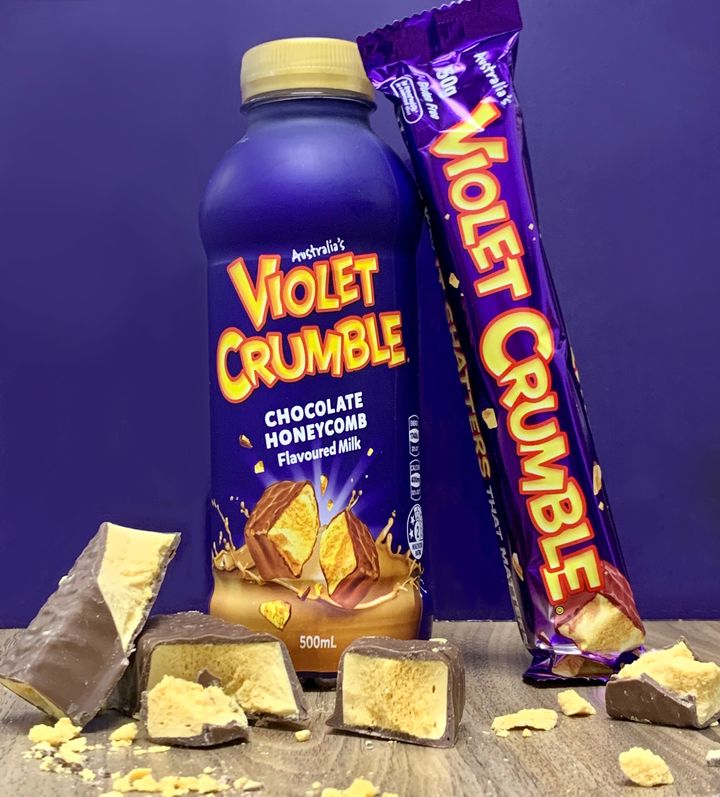 Violet Crumble Chocolate Honeycomb Flavoured Milk