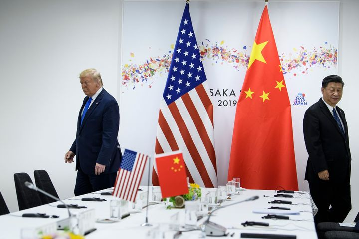 US President Donald Trump and China's President Xi Jinping attend a bilateral meeting on the sidelines of the G20 Summit in Osaka on June 29, 2019.