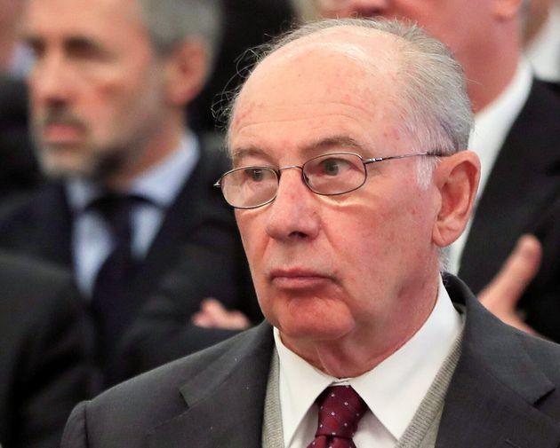 El expresidente de Bankia, Rodrigo Rato, en el juicio de la salida a
