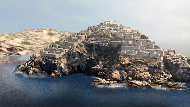 Πρόταση 3D απεικόνισης του οικισμού στη νησίδα