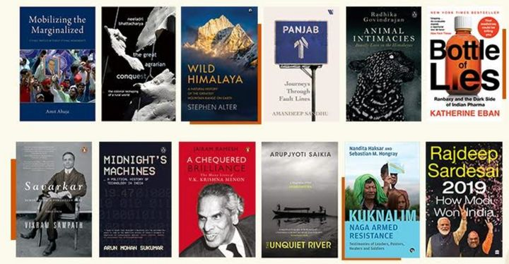 The 12 books on the Kamaladevi Chattopadhyay NIF Book Prize longlist.