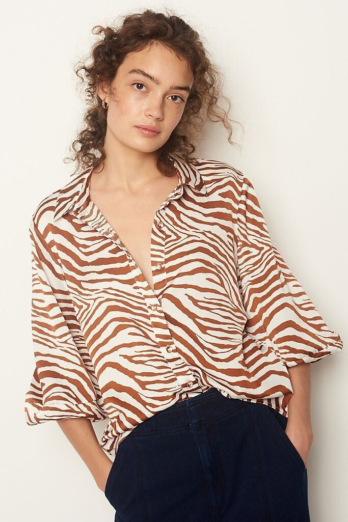 There Are Lots Of Zoom-Ready Tops On Sale At Anthropologie Right Now 11