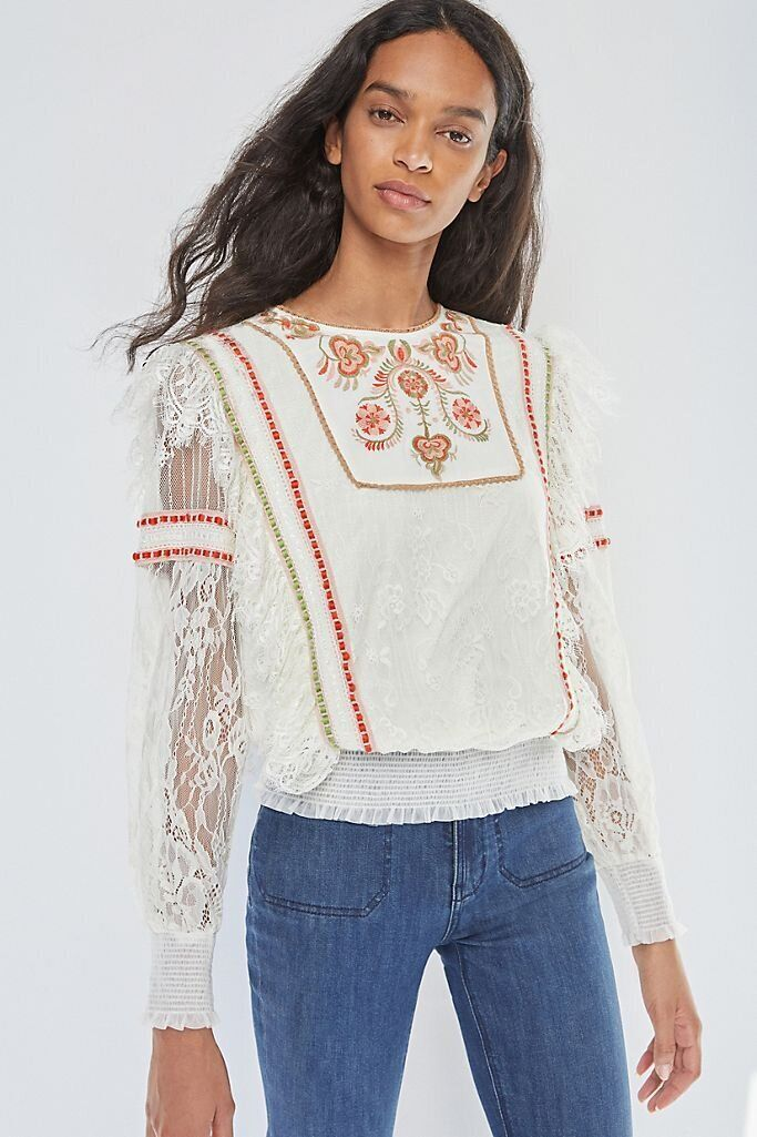 There Are Lots Of Zoom-Ready Tops On Sale At Anthropologie Right Now 14