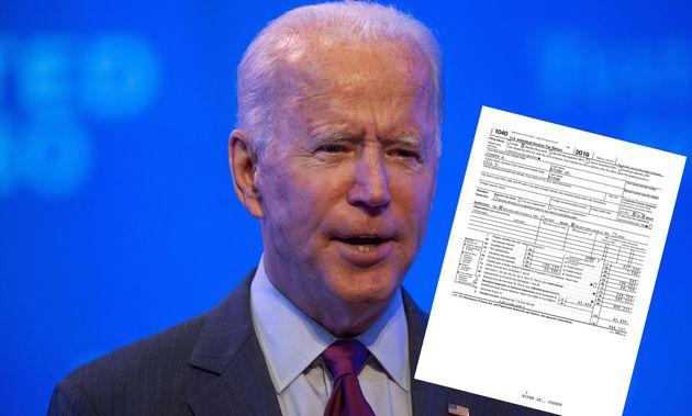 Joe Biden, ici le 27 septembre à Wilmington, dans le Delaware, a publié ses feuilles d'impôts pour l'année...