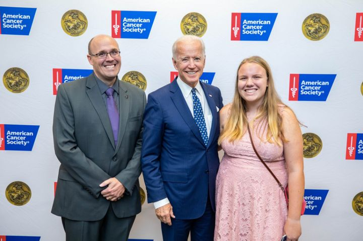 In 2018, Ellie Boyle and her father met Biden at an American Cancer Society event.