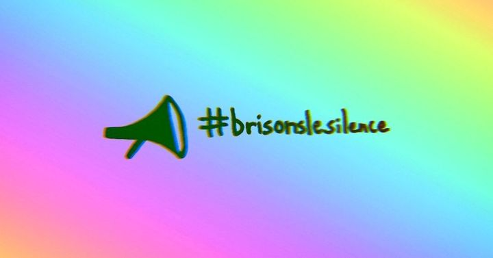 """Brison le silence,"" which means ""break the silence,"" on the Dis son nom Facebook page."