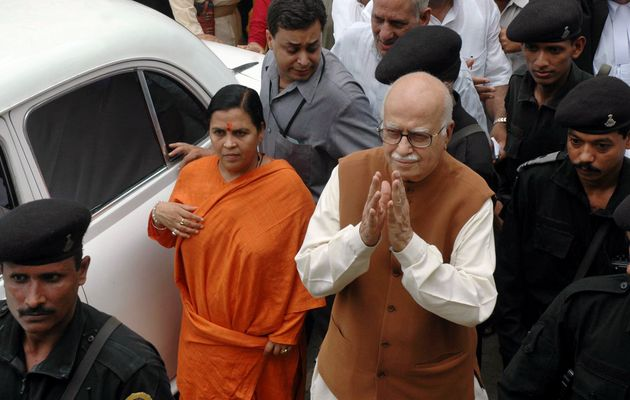 Uma Bharti and LK Advani in