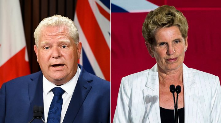 Doug Ford and Kathleen Wynne shared a nice exchange at Queen's Park Tuesday.