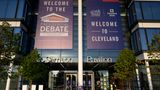 The site of the first US Presidential debate is seen at the Samson Pavilion of the Health Education Campus (HEC), which is shared by Case Western Reserve University and Cleveland Clinic is seen on September 29,2020 in Cleveland, Ohio. - Tuesday's clash in Cleveland, Ohio, the first of three 90-minute debates, represents the first time voters will have the chance to see the candidates facing off against one another directly. (Photo by Eric BARADAT / AFP) (Photo by ERIC BARADAT/AFP via Getty Images)