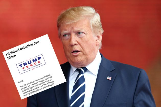 Avant le débat, l'équipe de Trump envoie par erreur un message pour lever des