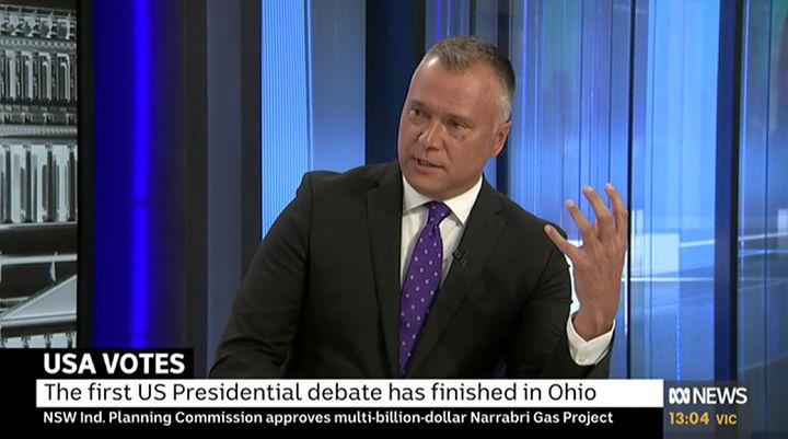 Australian journalist Stan Grant criticised Donald Trump and Joe Biden following the US Presidential Debate