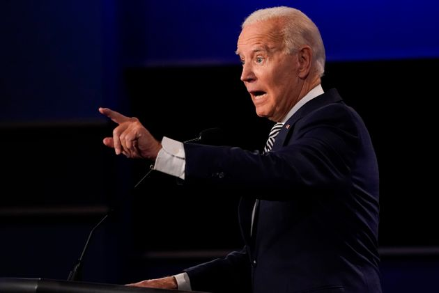 Democratic presidential candidate former Vice President Joe Biden gestures while speaking during the...