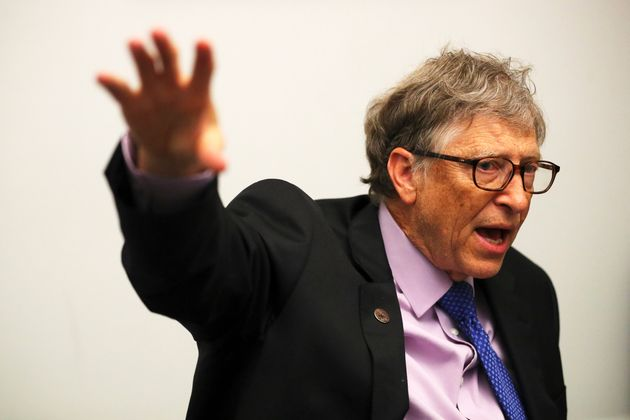 Bill Gates speaks during an interview with Reuters in London, Britain, April 18, 2018. REUTERS/Hannah