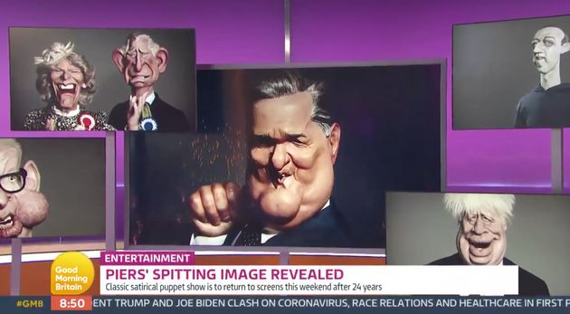 Piers Morgans Spitting Image Puppet Is Unveiled Live On Good Morning Britain
