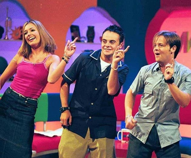 Ant, Dec and Cat Deeley on SMTV in the late
