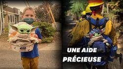 Baby Yoda ne quitte plus les pompiers américains engagés sur les feux de