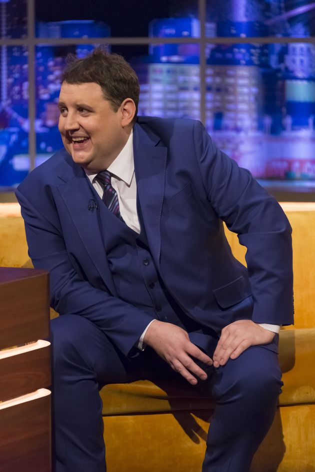 Peter Kay being interviewed on The Jonathan Ross Show in 2017