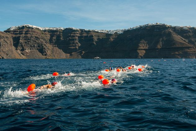 Open Water Swimming @ Santorini Experience