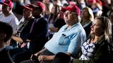Fans of U.S. President Donald Trump watch a streaming of the first presidential debate between Trump and Democratic presidential nominee Joe Biden in Cleveland, Ohio, from Lititz, Pennsylvania, U.S., September 29, 2020.  REUTERS/Rachel Wisniewski