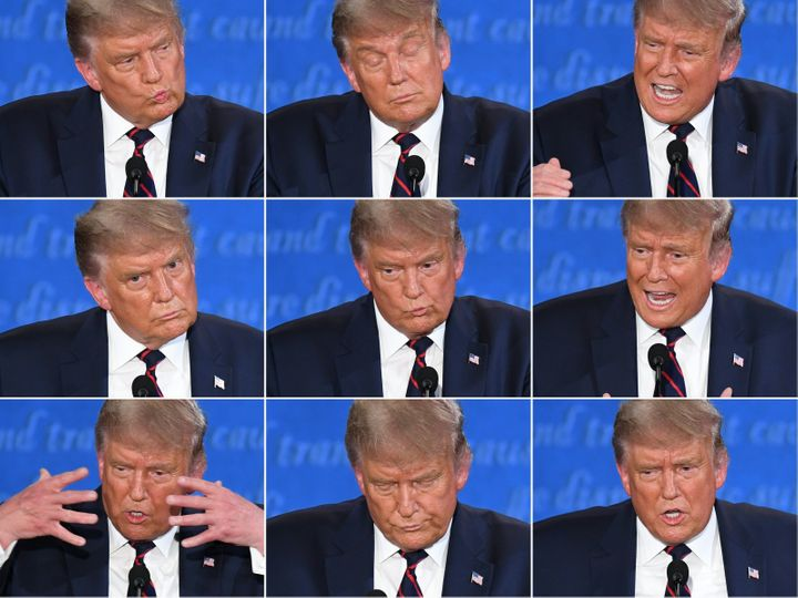 President Donald Trump bullied and interrupted his way through the first presidential debate with former Vice President Joe B