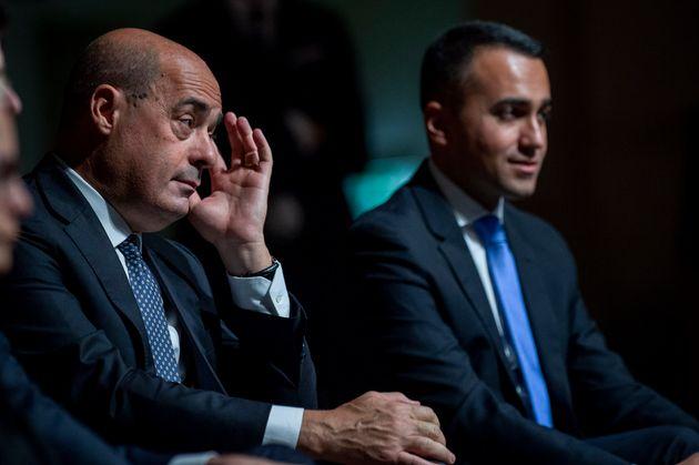 NARNI, ITALY - OCTOBER 25: General Secretary of Democratic Party (PD) Nicola Zingaretti and Italian Minister...