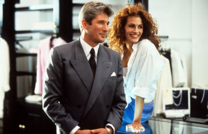 "Richard Gere and Julia Roberts in a scene from ""Pretty Woman."""