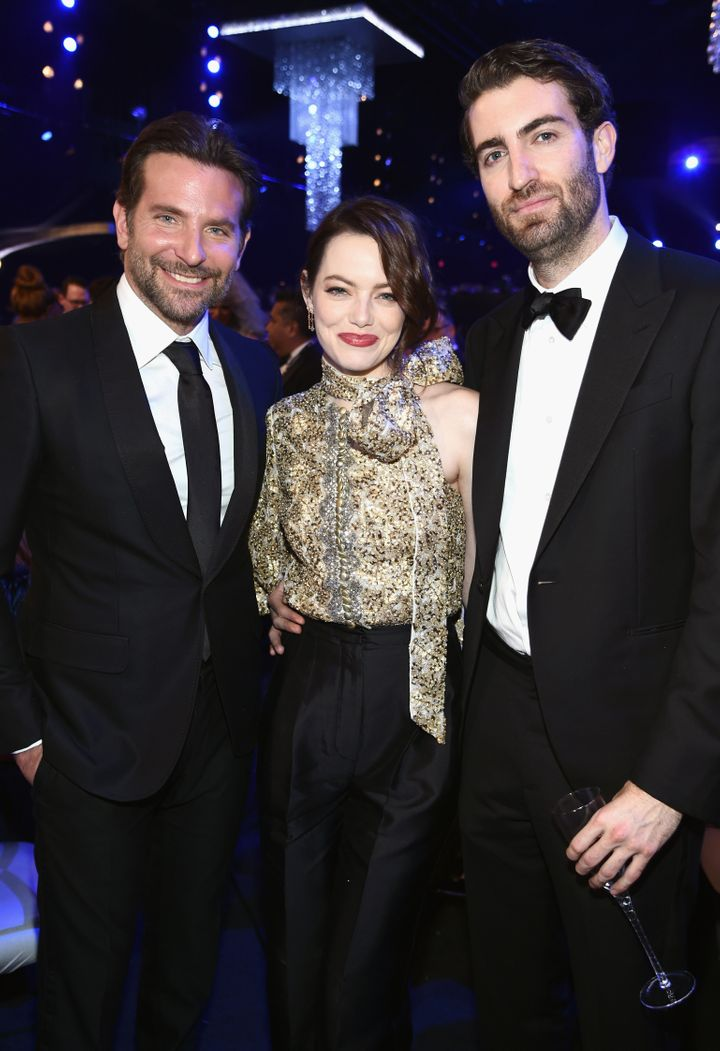 Bradley Cooper, Emma Stone and Dave McCary at the 25th annual Screen Actors Guild Awards in 2019.