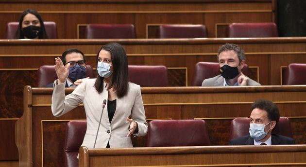 La líder de Ciudadanos, Inés Arrimadas, en el Congreso de los