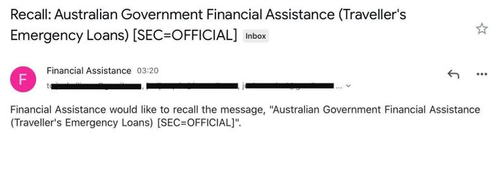 After the privacy breach DFAT then sent a recall email but still left peoples' private emails in the CC section.