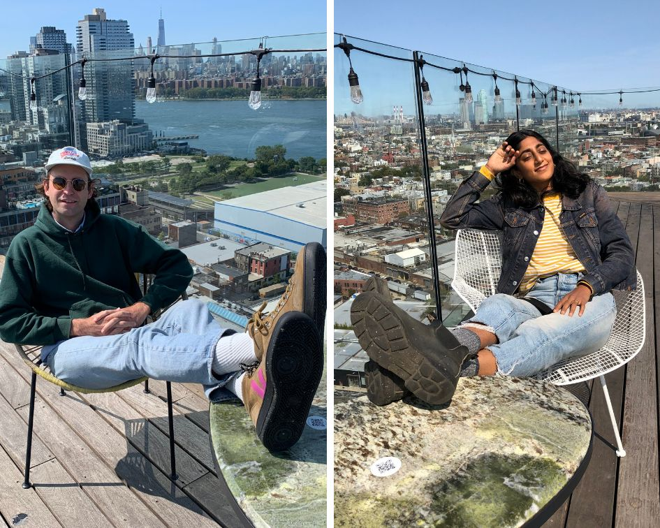 John Reynolds and Sunita Mani, photographed by each other, at Westlight in Brooklyn.