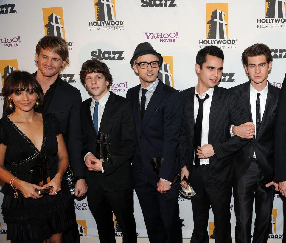 Actors Rashida Jones, Josh Pence, Jesse Eisenberg, Justin Timberlake, Max Minghella and Andrew Garfield...