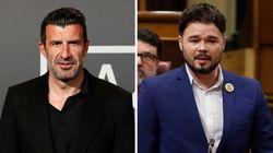 Luis Figo arremete duramente contra Gabriel Rufián y este le responde dando donde más