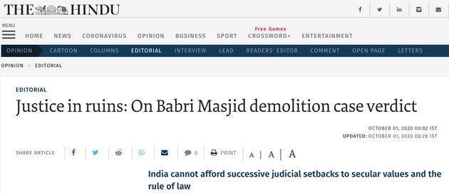 'CBI Must Appeal': What Newspaper Editorials Said On Babri