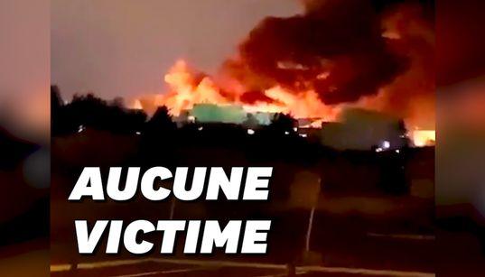 En Seine-Saint-Denis, un incendie ravage un entrepôt de 7.000